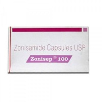 A box of generic Zonisamide 100mg tablets