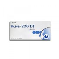 A box of generic acyclovir 200mg tablets