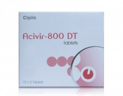 A box of ACIVIR 800 DT tablets