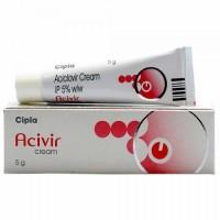 A box and a tube of generic Acyclovir 5% Cream