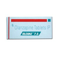 Box and blister strip of generic Olanzapine 7.5mg tablet