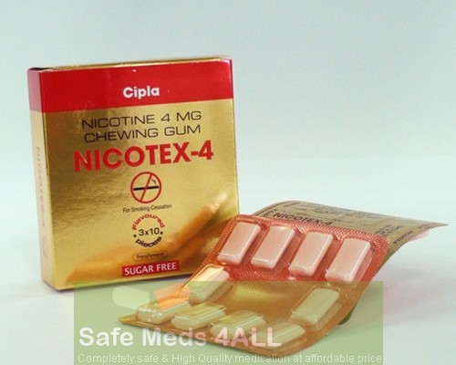 Nicorette Gum Fresh Mint (Sugar Free) 4mg(Generic Equivalent)