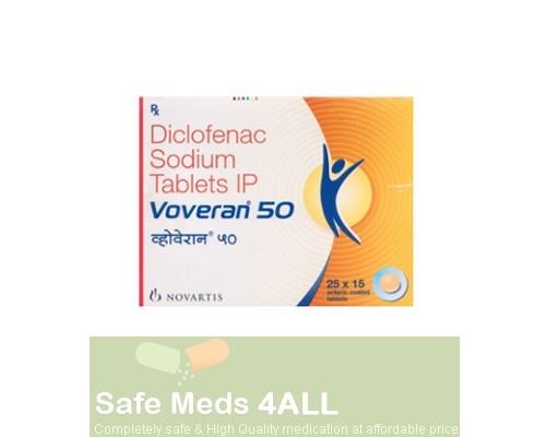 Voltaren 50mg tablet (Branded product), MARKETED INTERNATIONALLY as VOVERAN